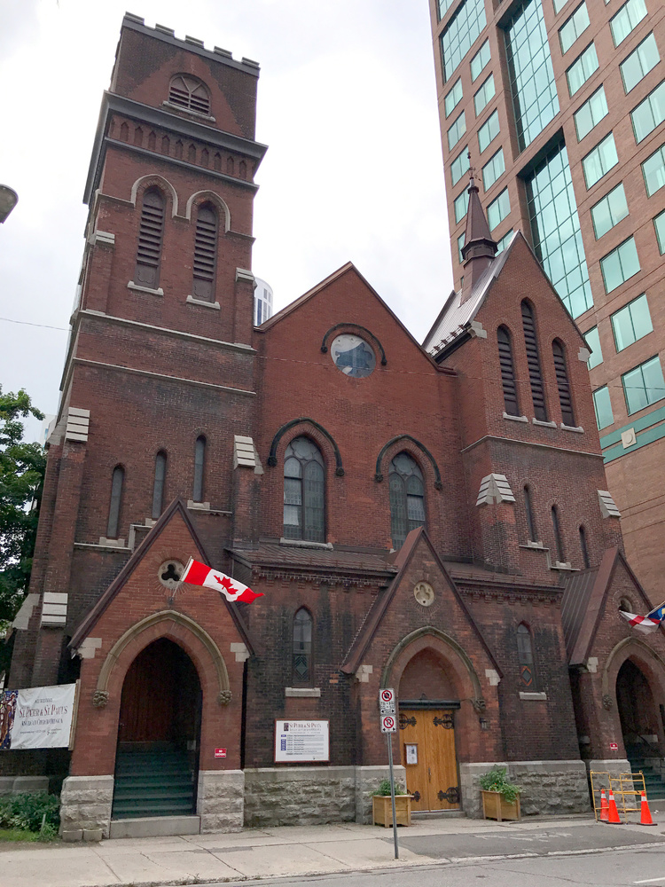 St. George's Church, 152 Metcalfe Street, where GO meetings were held before an actual Centre was established. 1971–1972