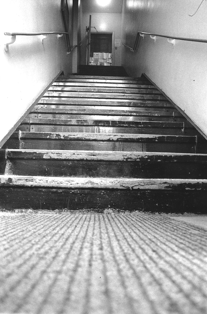 The famous stairs up to the GO Centre at 318 Lisgar