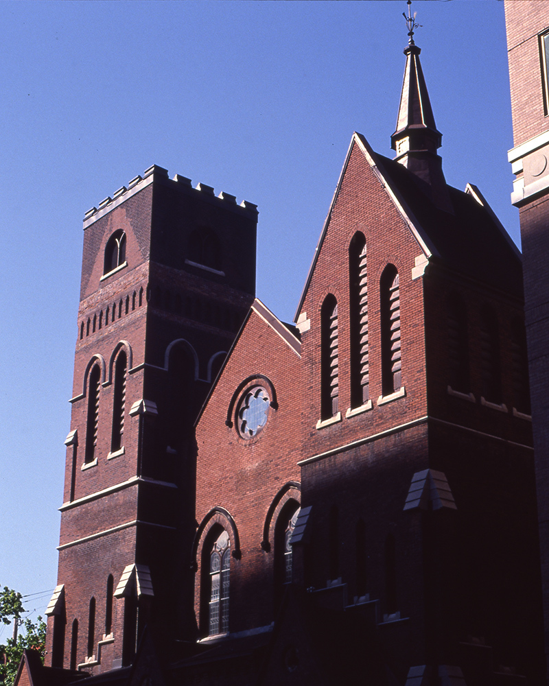 St George's Church, now St Peter's and St Paul's, where GO meetings happened in the basement of the church
