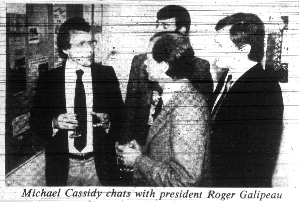 Michael Cassidy and GO president Roger Galipeau