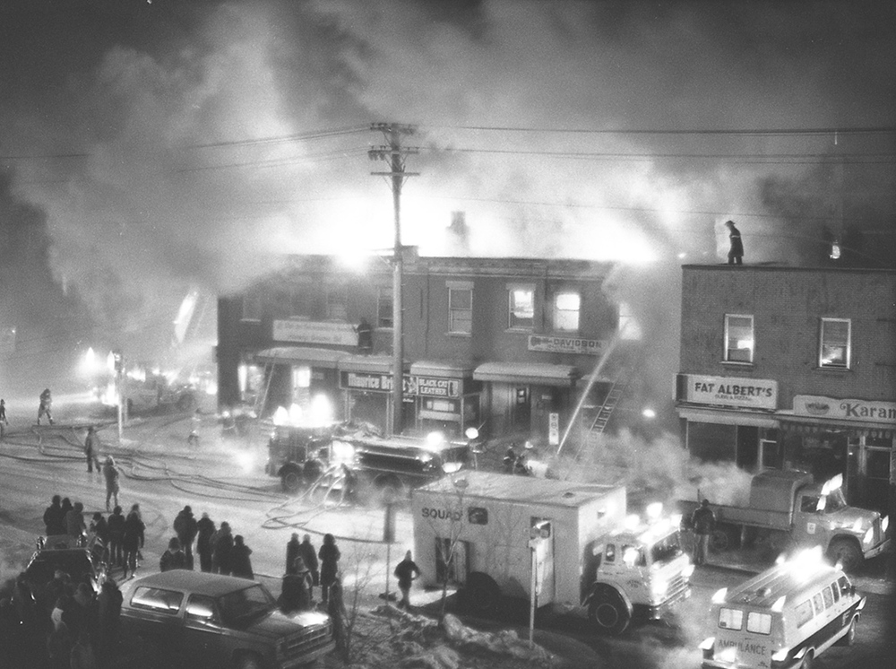 Fire at the GO Centre, 378 Elgin Street (1975–1979), February 16, 1979.