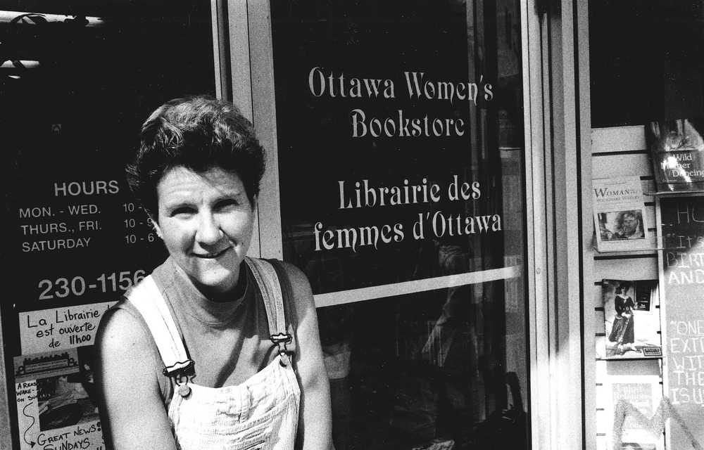 Peggy Harris, co-owner of the Ottawa Women's Bookstore