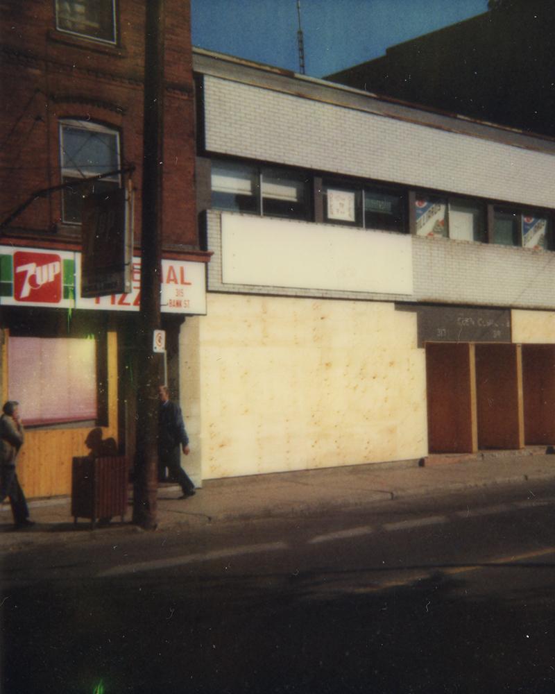 left, building where Village Pub Inn opened